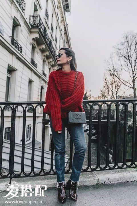 秋冬酒红色穿衣搭配