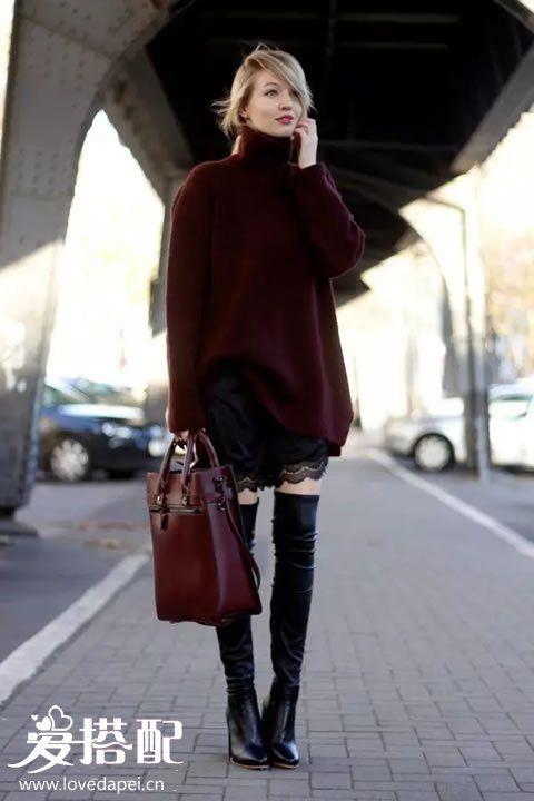 酒红色+黑色