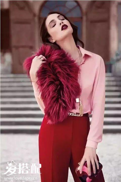 秋冬酒红色时尚穿搭指南-酒红色怎样搭配颜色